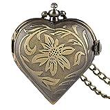 Damen-Taschenuhr, schönes Vintage Pocket Uhren Halskette Valentines Geschenk für Frauen