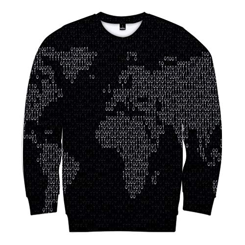 SuperSU-Sweatshirt Unisex Herren Damen 3D Weltkarte Print Langarm Sweatshirt Herbst Casual Locker Oversize Liebhaber Tops Männer Frauen Hipster Atmungsaktive Oberteil Pulli 2XS-4XL -