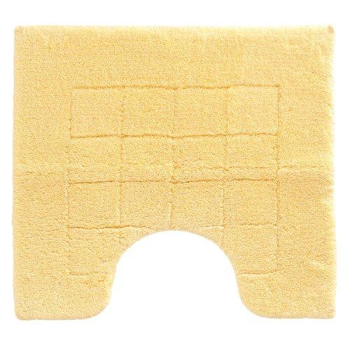 Vossen 1147420130 Exclusive - Toilettenvorleger mit Ausschnitt, 55 x 50 cm, citro