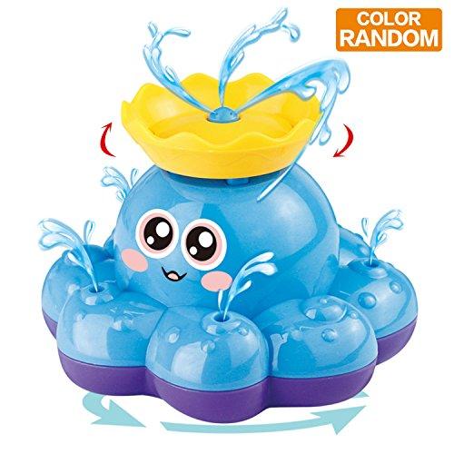 Badespielzeug, Spray-Wasser-Krake (gelegentliche Farbe), kann schweben und sich mit Brunnen drehen, Funcorn spielt sich hin- und herbewegende Badewanne-Dusche-Pool Badezimmer-Spielzeug für Babys Kleinkinder Kinder-Party, Wasser-Pumpen elektronischer Sprüher (Baby-spielzeug Dusche)
