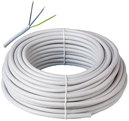 Prysmian Kabelring NYM-J 3x1,5 300/500V, 50m, 3-adrige Mantelleitung, Installationskabel für den Einsatz im Mauerwerk/Beton, Stromkabel nach DIN Norm, Elektroleitung, elektrische Leitung