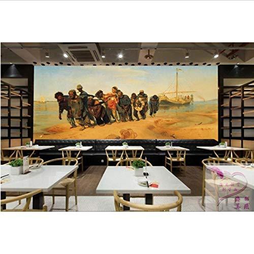 taurant-Wohnzimmer-Wohnzimmer-Sofa-Fernsehwand-Hintergrund-Wand der Wolga-Fluss-Verfolger-Wandbild der Foto-Tapeten-3D-500cm(W) x320cm(H) ()
