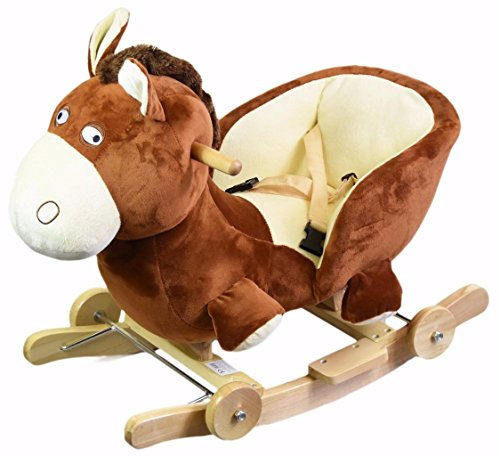 Baby Wooden Musical Rocking Ride On Rocker Chair Buggy Carrier Walker Kids Toy (Donkey)