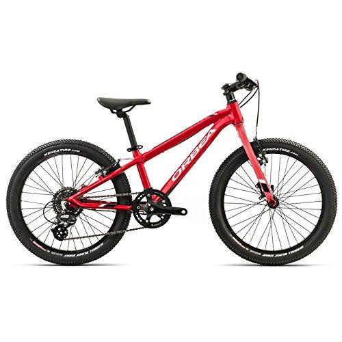 ORBEA MX 20 Team Zoll MTB Kinder Fahrrad 8 Gang Rad Aluminium Kids Mountain Bike Jungen Mädchen, I011, Farbe Rot