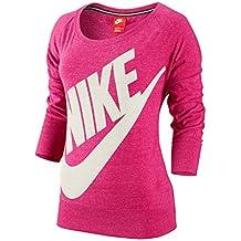 Nike Sweatshirt Gym Vintage Logo Crew - Sudadera para Hombre, Color Rosa, Talla l