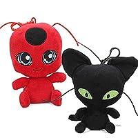 Modi Miraculous Ladybug Plagg & Tikki Cat Noir Plush Toys Adrien Marinette Stuffed Animal Doll - 2Pcs/Set