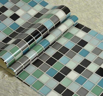 HNZZN Moderne Imitation der keramischen Fliese Mosaik Tapete Wohnzimmer Schlafzimmer Gang TV Einstellung Wand Papierrolle, 66052, 53 CM X 10 M -