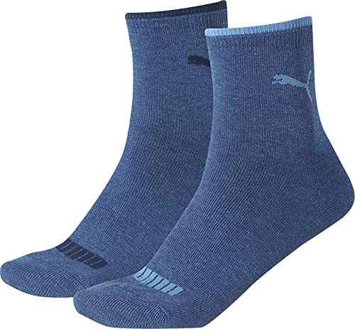Puma Herren Lifestyle Women Short Sock 2P Jeans, 39-42 (Womens Elasthan Shorts Baumwolle)