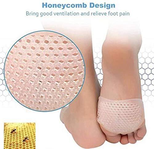 Traspirante Forefoot Pad, 2 Coppia silicone Honeycomb Forefoot zampe riutilizzabile sollievo dal dolore