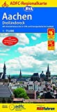 ADFC-Regionalkarte Aachen /Dreiländereck, 1:75.000, reiß- und wetterfest, GPS-Tracks Download: Mit Knotenpunktsystem in Belgien, Niederlande und ... Texte (ADFC-Regionalkarte 1:75000)