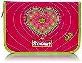 Scout Schulranzen-Set Etui 22 tlg Pink Heart 20 cm Pink 66230078700