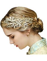 YAZILIND tocado belleza de la mujer nupcial de la boda clip de pelo pasador de aleaci¨®n de perlas rhinestones partes de pelo accesorios