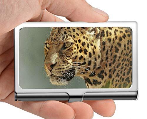 Professioneller Visitenkartenhalter, Leopardenjunges-Rosette natur Kreditkarten-ID-Etui Leopard Rosette