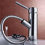 YSRBath Modern Bathroom Sink Taps Antique Tensile Pull Taps Kitchen Bathroom Basin Mixer Tap Basin Faucet