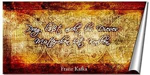 Kunstdruck Zitat über Heimat von Franz Kafka als Poster in 40x80