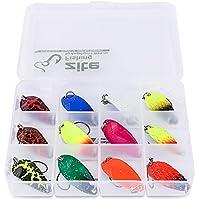 Zite Fishing Set Di 12 Pezzi Di Esche Per La Pesca Alla Trota - Cucchiaini Esche Artificiali Spinning 3g - Trout Spoon Kit Con Scatola