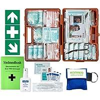 Erste-Hilfe-Koffer M2 PLUS für Betriebe ab 50 Mitarbeiter DIN/EN 13169 -Paket 1- incl. 3 AUFKLEBER & Verbandbuch... preisvergleich bei billige-tabletten.eu
