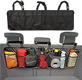 ZAROSO Kofferraum Organizer fürs Auto/KFZ Netztaschen, Klett Befestigung | Kofferraum Tasche mit Gepäcknetzen in Schwa