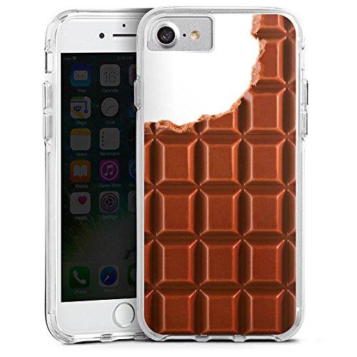 Apple iPhone 6s Bumper Hülle Bumper Case Glitzer Hülle Schokolade Chocolate Schoko Bumper Case transparent