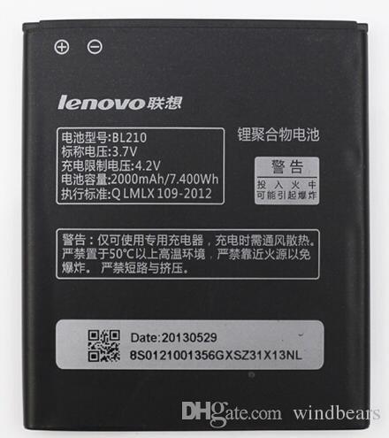 SD Lenovo BL210 2000 mAh Li-Ion Original Battery for Lenovo A656 A658T A750E A766 A770E S650 S658T S820 S820e (BL210)  available at amazon for Rs.665