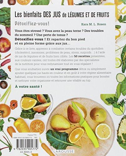 Book's Cover of Les bienfaits des jus de légumes et de fruits