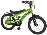 Bachtenkirch Kinderfahrrad 16'' Kawasaki Kidd grün-schwarz RH 20 cm