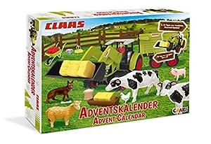 CRAZE Calendario de Adviento CLAAS 2019 Calendario de tractores de juguete para niños en Navidad 19597
