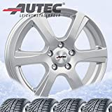 4 Invierno ruedas autec polaric ECE 6 x 15 ET40 4 X 100 Brillant Plata con