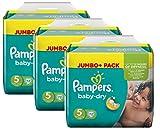 Pampers Baby Dry Größe 5 Junior 11-25kg Jumbo Plus Pack, 3er Pack (3 x 72 Windeln)