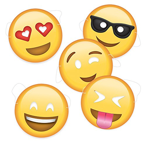 Emoji Party Masken 5er Set