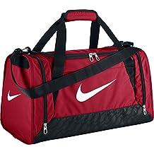 Nike Brasilia 6 Duffel Small - Bolsa unisex, color rojo / negro / blanco, talla única