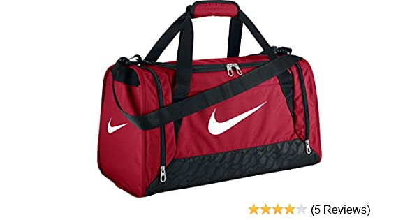 33d9ea2fba10c Nike Men s Brasilia 6 Duffel Bag-Red Black White