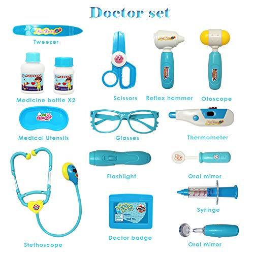 Buon Materiale Camicia Dottore//Dottoressa Accessori Valigetta Dottore Bambini Costume da Dottore per Giocattoli Bambino 3 4 5 Anni
