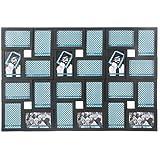@Home Cluster Plastic Collage Photo Frame (87 cm x 59.01 cm x 3.31 cm, Black)