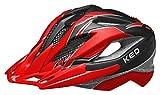 KED Fahrradhelm - KED Street Junior Pro M Black Red Matt - 53-58 cm - 18423196M