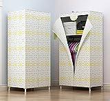 N&B Tragbare Kleidung Schrank - kleiderschrank-Organizer - Weißes Vinyl Stoff - Robuste metallrahmen - Einfach werkzeugmontage Ohne-F 70x45x140cm(28x18x55)
