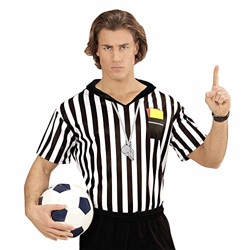 Widmann 07413 Erwachsenen Kostüm Schiedsrichter, Herren, Mehrfarbig, -
