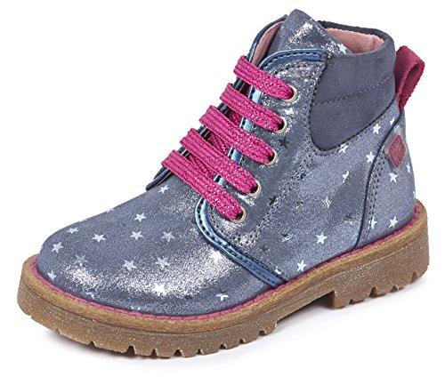 Agatha Ruiz de la Prada Colinas, Desert Boots Fille Bleu (A Navy/Estampado Estrellas)