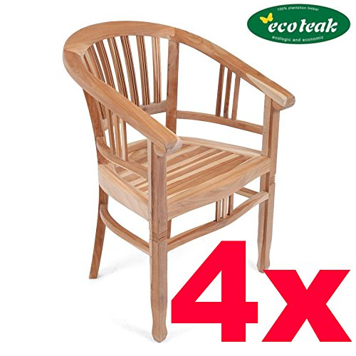 SET: 4 x PLOSS ECO-TEAK® HOLZSTUHL 'NEW ORLEANS'