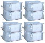#8: Homestrap™ Big Underbed Storage Bag/ Storage Organiser - Grey - Set of 8