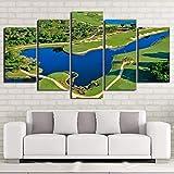 Die besten Golfplätze Poster - xzfddn Moderne Wandkunst Modularen Bilder HD Gedruckt 5 Bewertungen