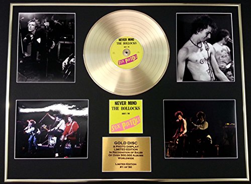 SEX PISTOLS/GIGANTIC Goldene Schallplatte/RECORD & Foto-Darstellung/Limitierte Edition/COA/NEVER MIND THE BOLLOCKS (Foto Foto Sex)