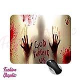 Fashion Graphic Tappetino Zombie Mouse Mousepad Horror Sangue Serie TV 19x23cm Gadget
