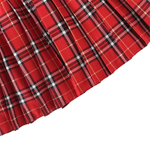 Genetic -  Gonna  - linea ad a - A quadri - 100 DEN - Donna Multicolore - Red mixed white