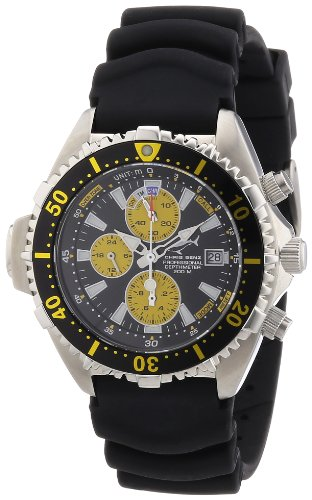 Chris Benz Men's Quartz Watch CB-C-BLACKYELLOW-KB with Rubber Strap