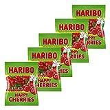Haribo Happy Cherries, 5er Pack, Gummibärchen, Weingummi, Fruchtgummi, Im Beutel, Tüte