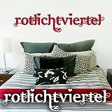 """Wandkings Wandtattoo """"Rotlichtviertel"""" 60 x 13 cm dunkelrot - erhältlich in 33 Farben"""