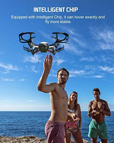 Potensic Drone con Telecamera D20 Drone WiFi Funzione di Sospensione Altitudine Allarme della Scarica e Fuoricampo modalità Senza Testa e HD Adatto per Principianti, Buon Regalo per Bambini