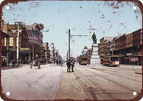 PotteLove 1900 Metallschilder, Motiv: Canal Street New Orleans, 20,3 x 30,5 cm