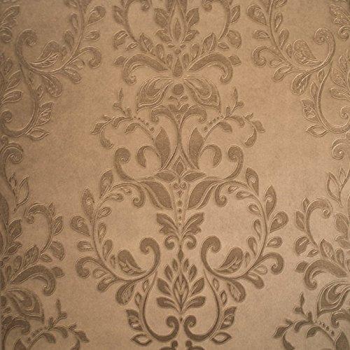 muriva-carta-da-parati-con-motivo-damasco-colore-bronzo